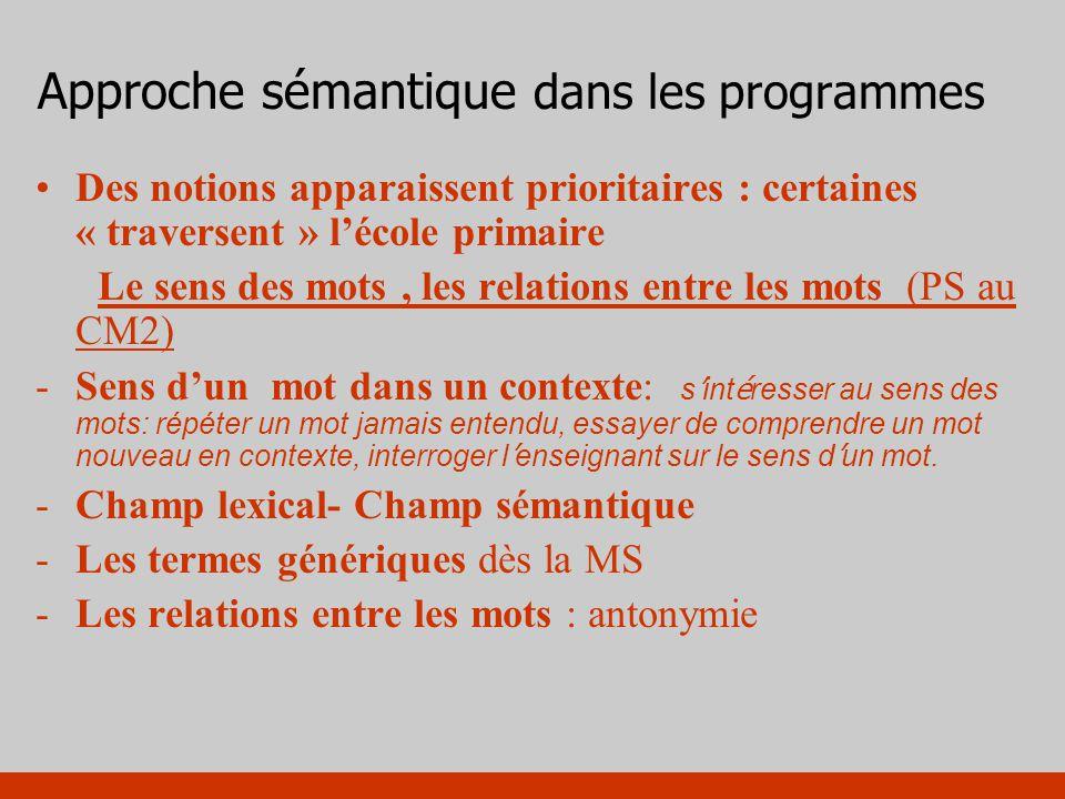 Approche sémantique dans les programmes