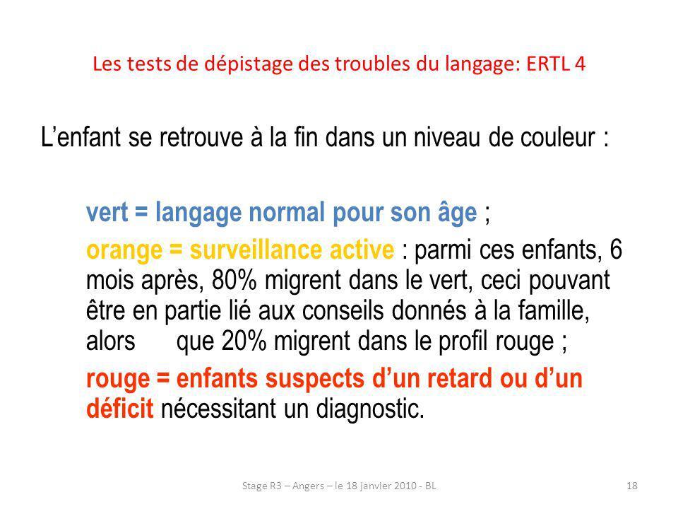 Les tests de dépistage des troubles du langage: ERTL 4