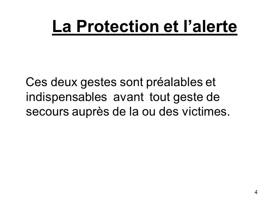 La Protection et l'alerte