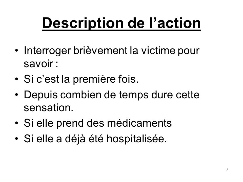 Description de l'action