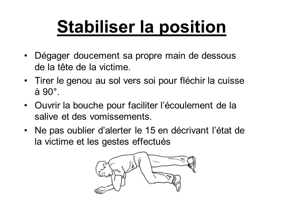 Stabiliser la position