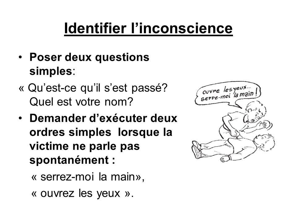 Identifier l'inconscience