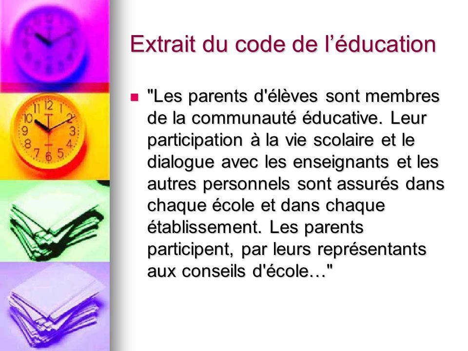 Extrait du code de l'éducation