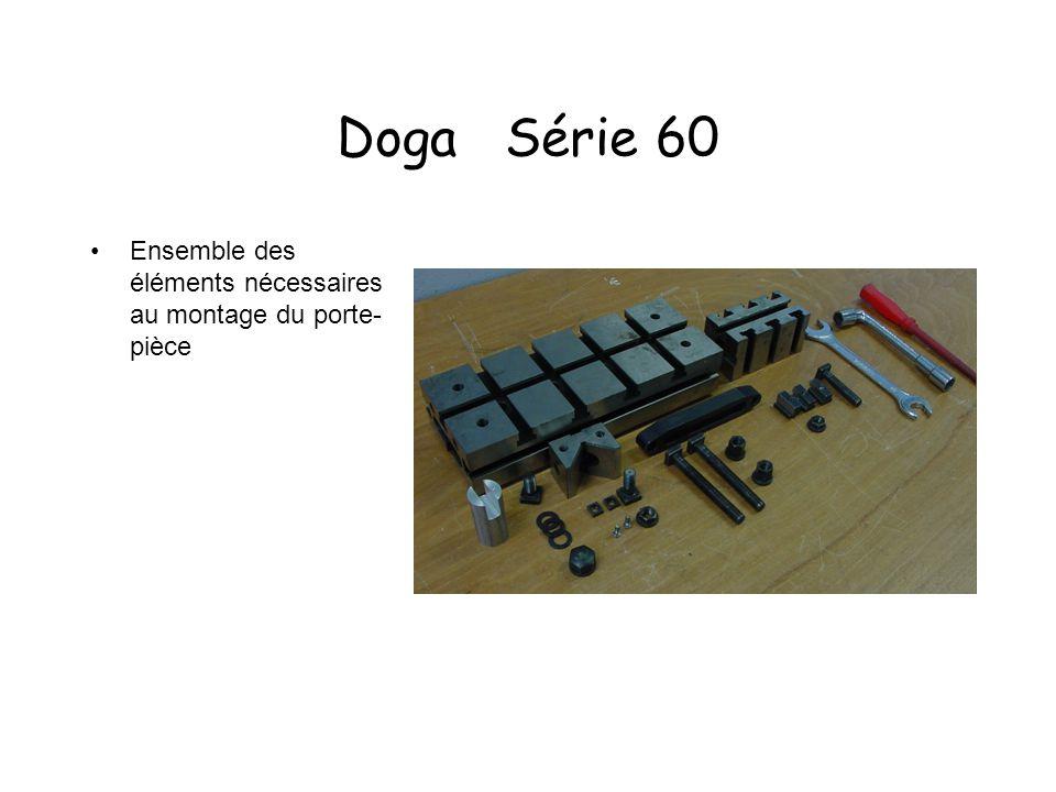 Doga Série 60 Ensemble des éléments nécessaires au montage du porte-pièce