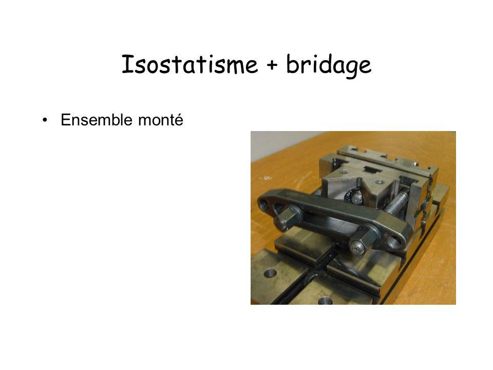 Isostatisme + bridage Ensemble monté