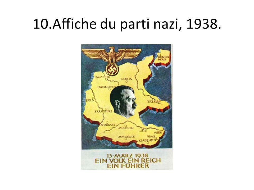 10.Affiche du parti nazi, 1938.