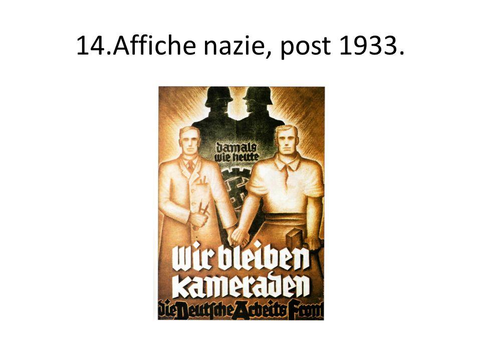14.Affiche nazie, post 1933.