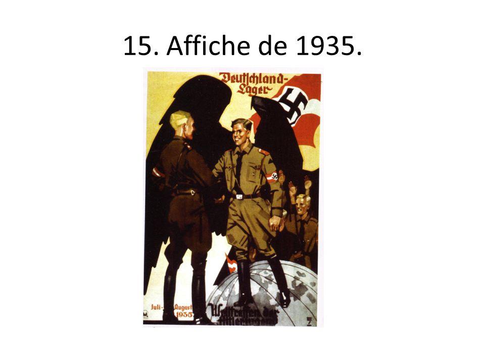 15. Affiche de 1935.