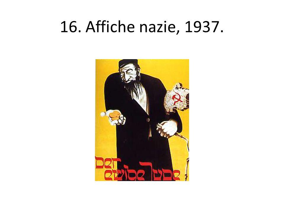 16. Affiche nazie, 1937.