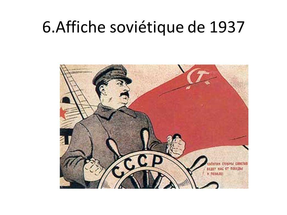 6.Affiche soviétique de 1937