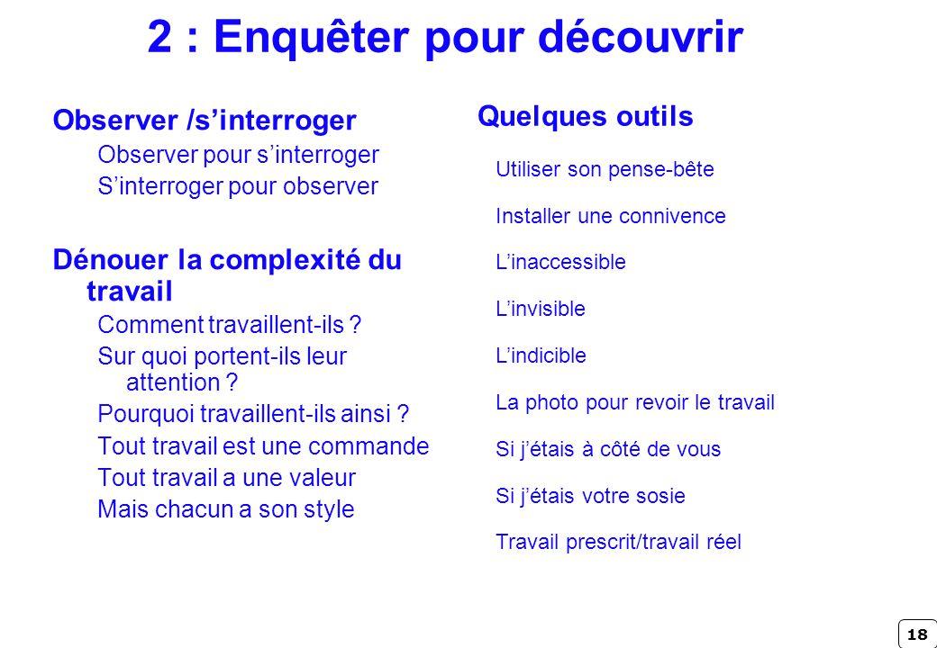 2 : Enquêter pour découvrir