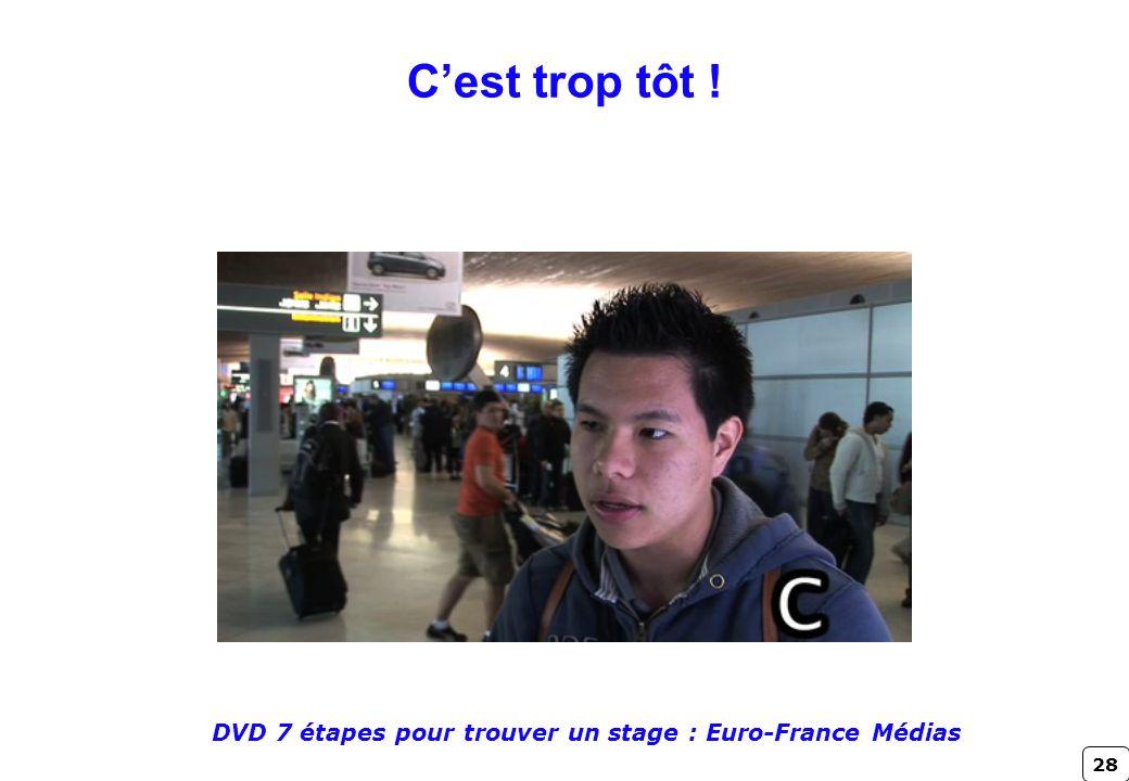 DVD 7 étapes pour trouver un stage : Euro-France Médias