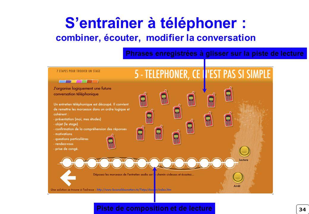 S'entraîner à téléphoner : combiner, écouter, modifier la conversation