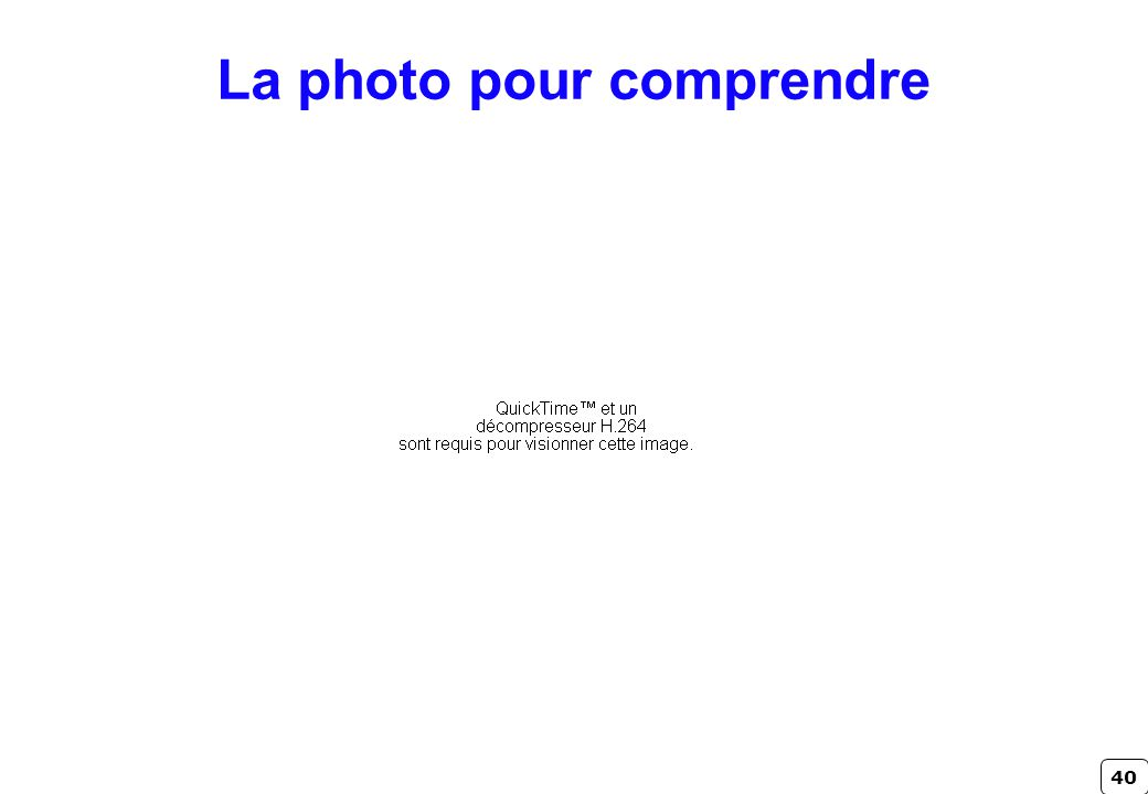 La photo pour comprendre