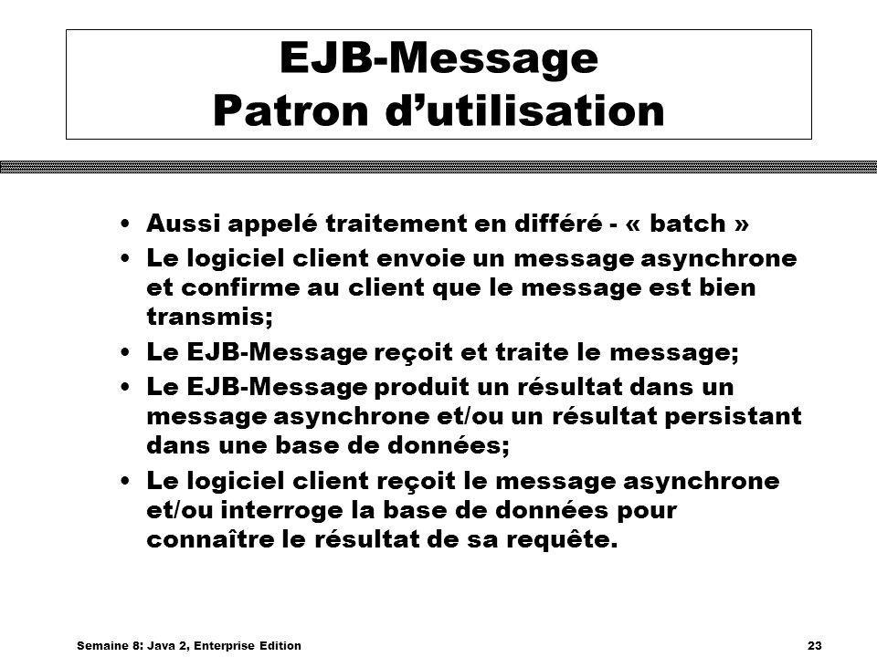 EJB-Message Patron d'utilisation