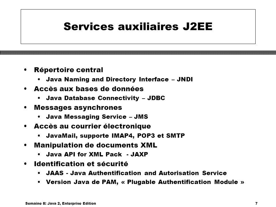Services auxiliaires J2EE