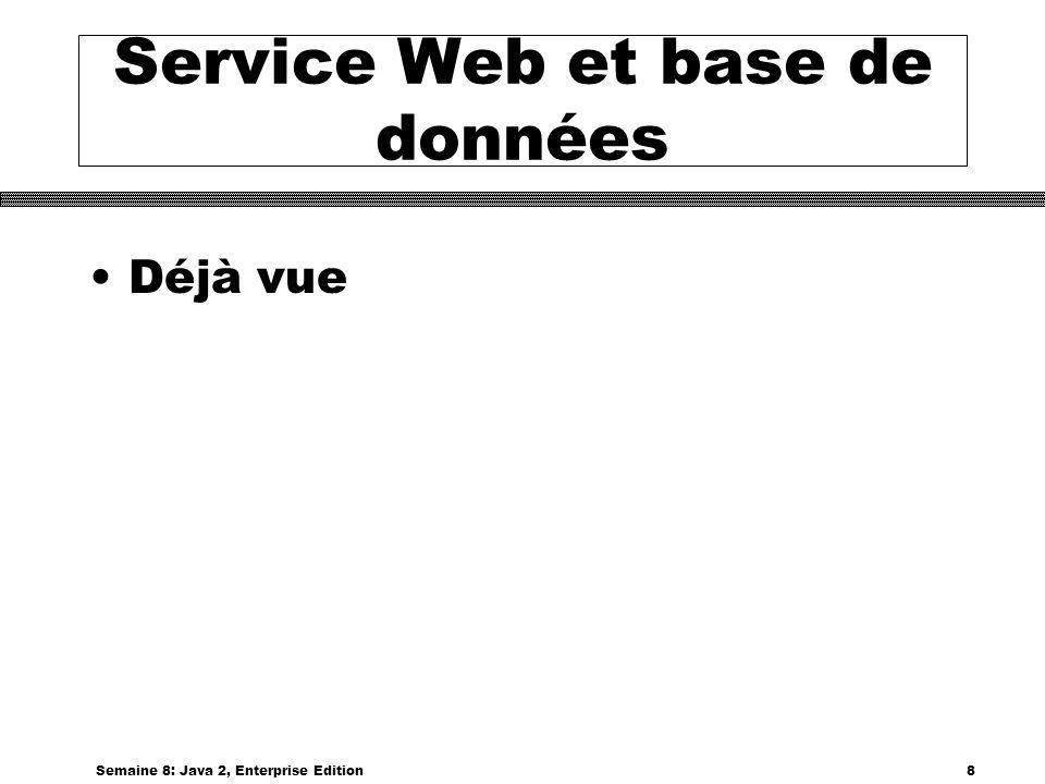 Service Web et base de données