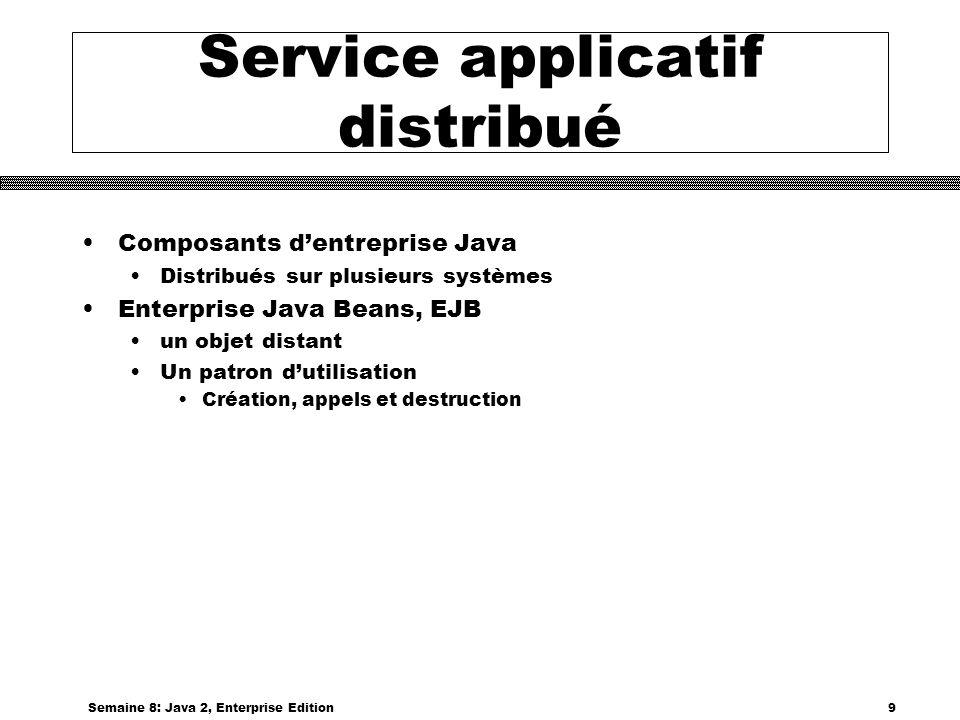 Service applicatif distribué