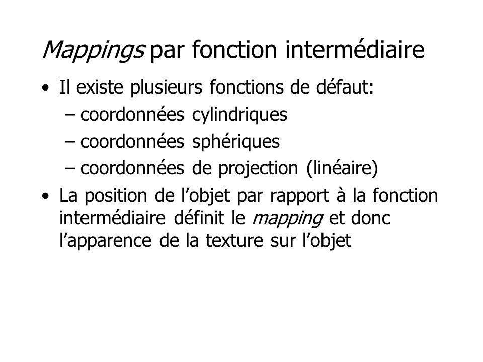 Mappings par fonction intermédiaire