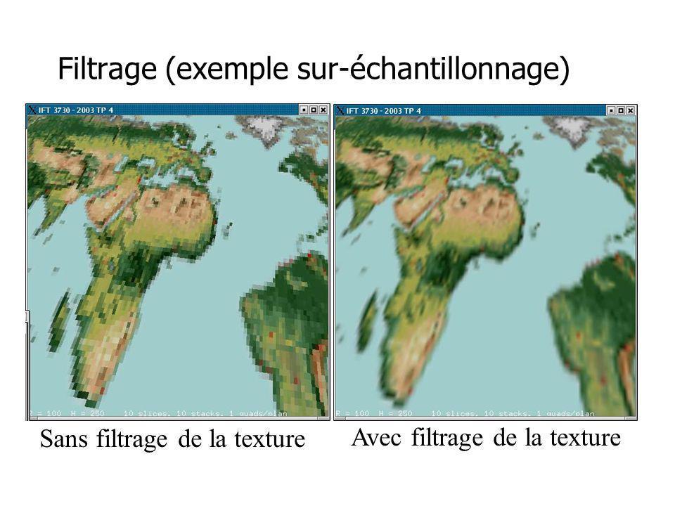 Filtrage (exemple sur-échantillonnage)