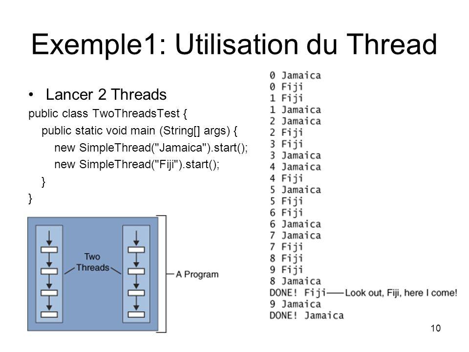 Exemple1: Utilisation du Thread