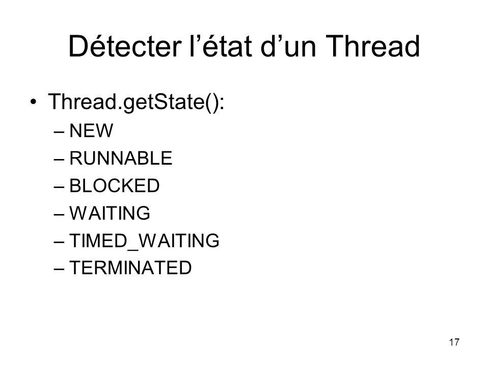 Détecter l'état d'un Thread