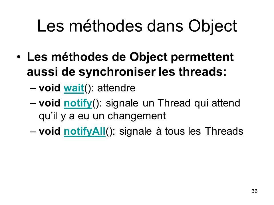 Les méthodes dans Object