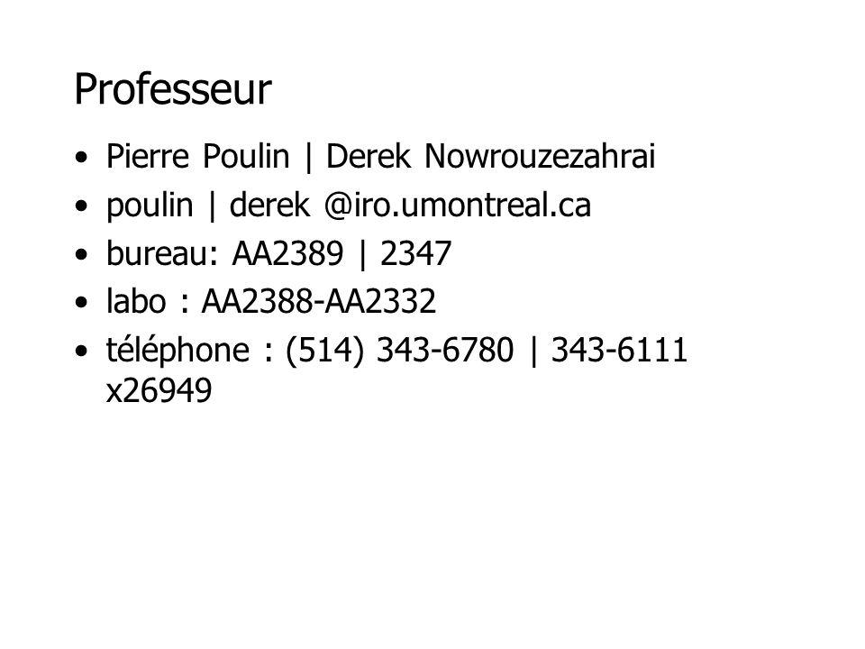 Professeur Pierre Poulin | Derek Nowrouzezahrai