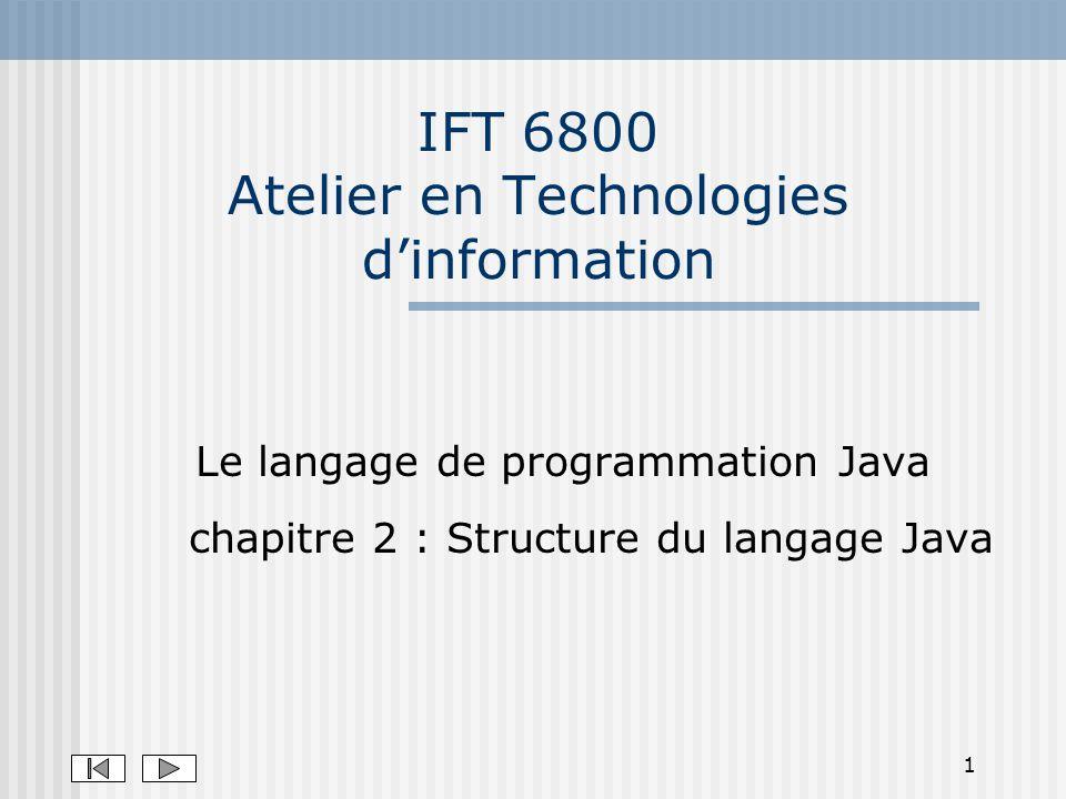 IFT 6800 Atelier en Technologies d'information