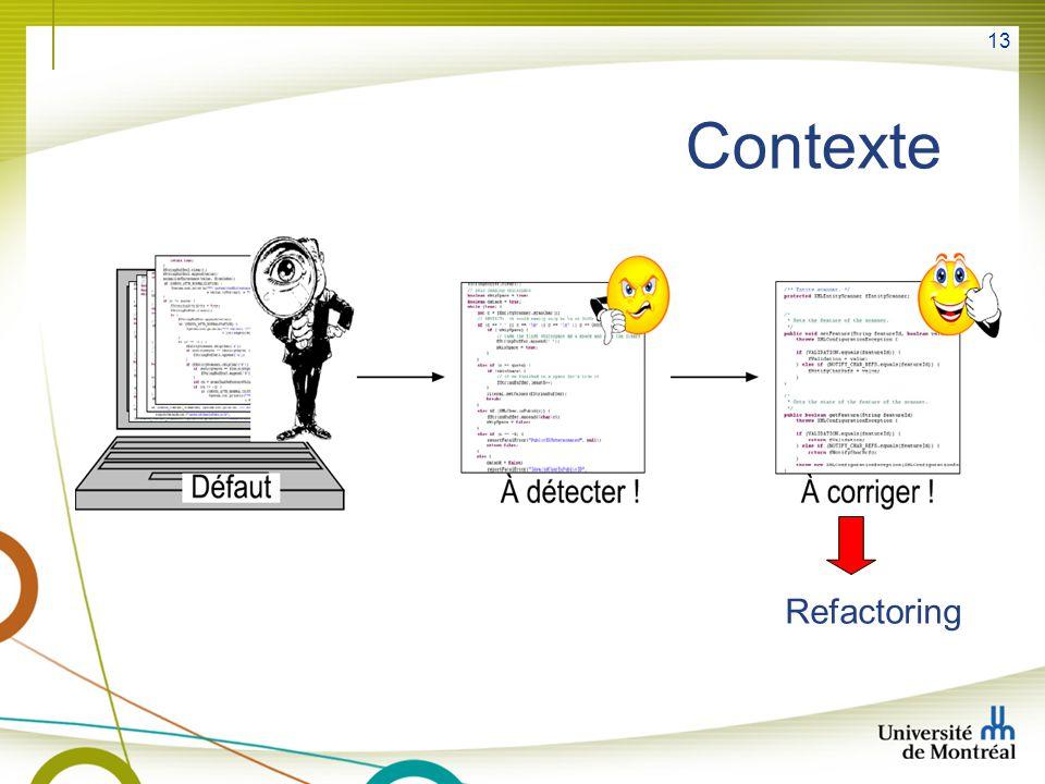 Contexte Refactoring