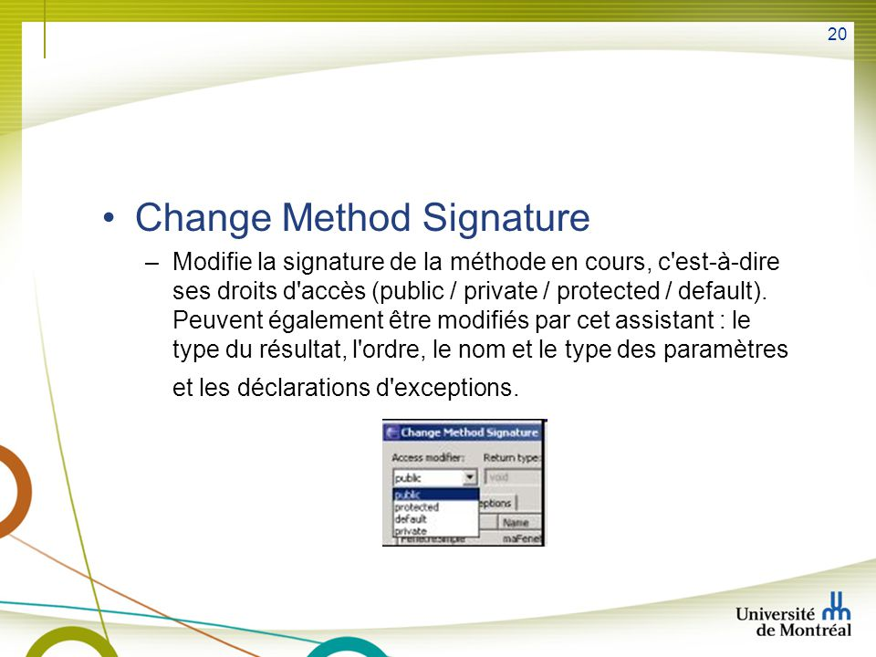 Change Method Signature