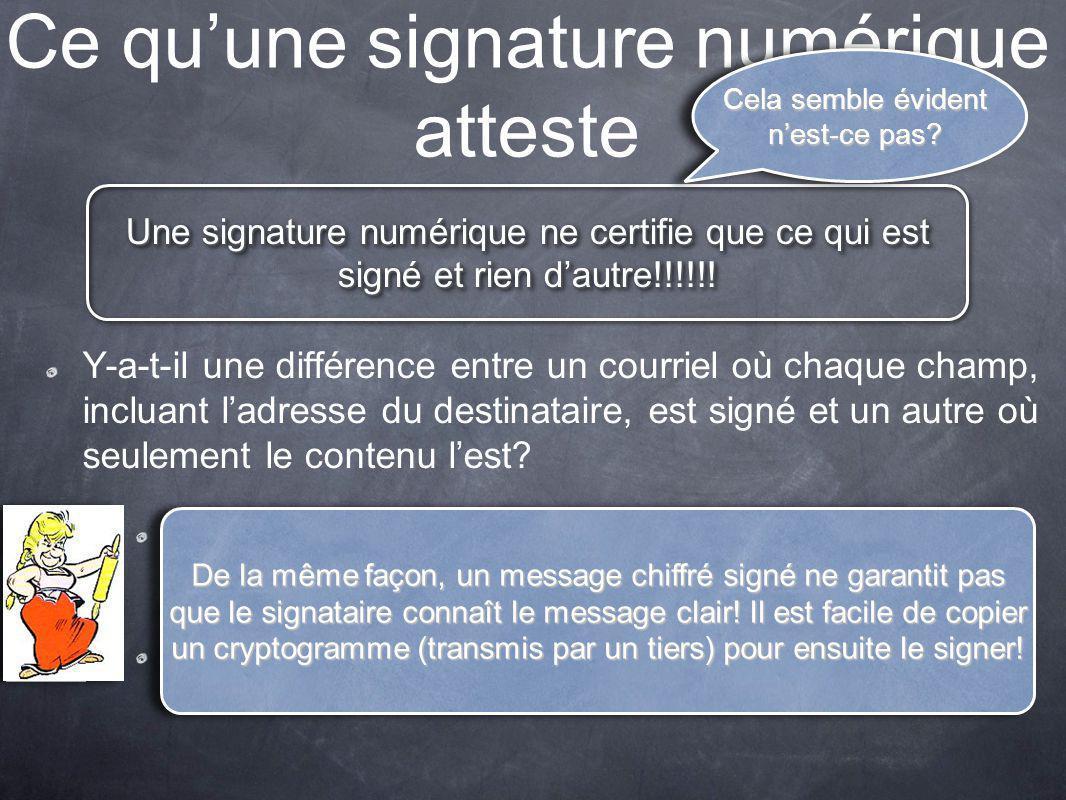 Ce qu'une signature numérique atteste