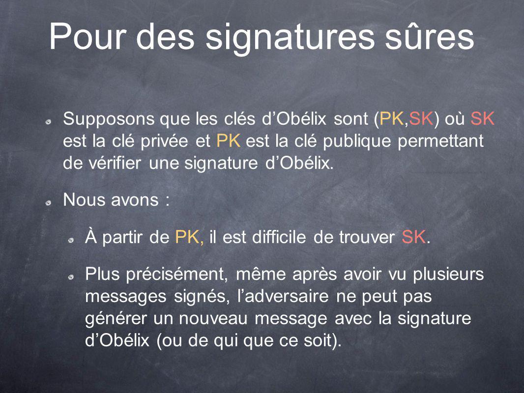 Pour des signatures sûres