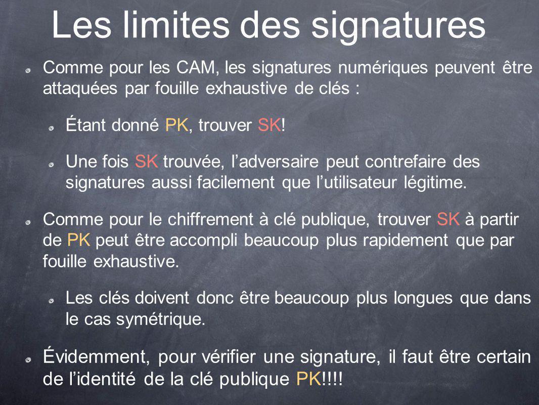 Les limites des signatures