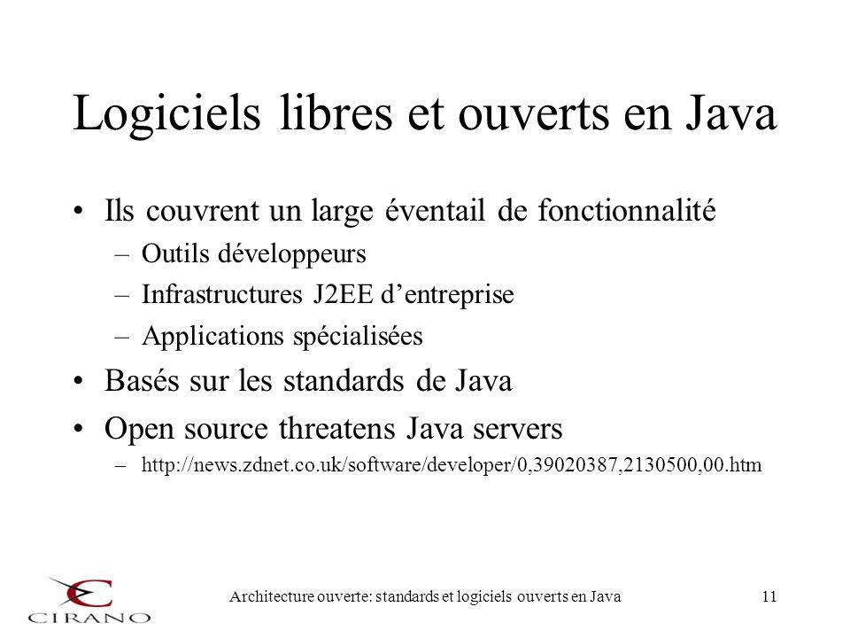Logiciels libres et ouverts en Java