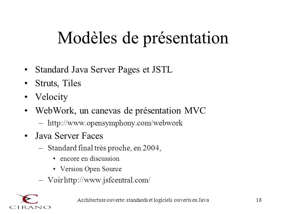 Modèles de présentation