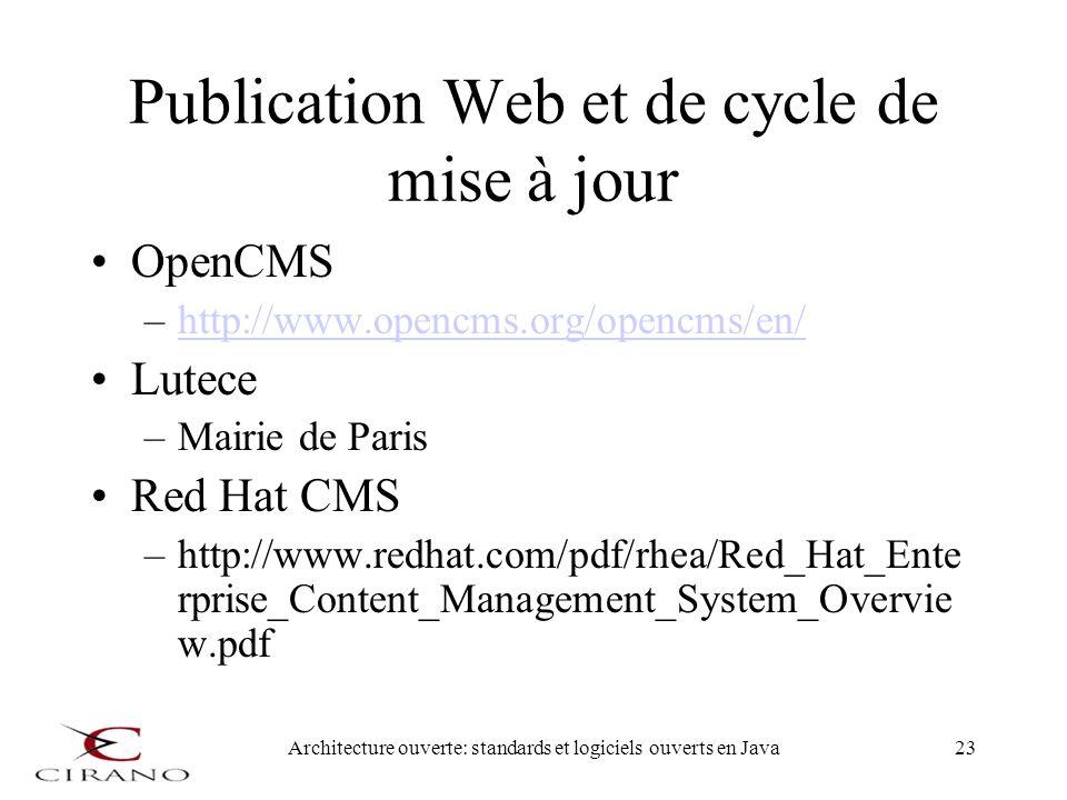 Publication Web et de cycle de mise à jour