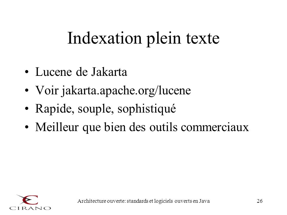 Indexation plein texte