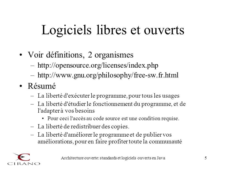 Logiciels libres et ouverts