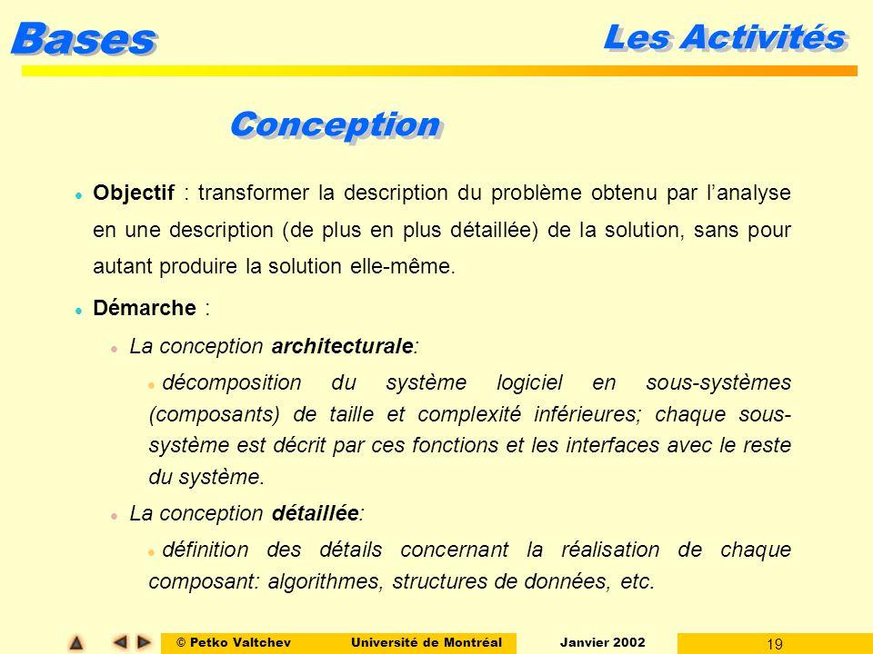 Ift 2251 g nie logiciel le processus fin ppt video for Conception architecturale definition