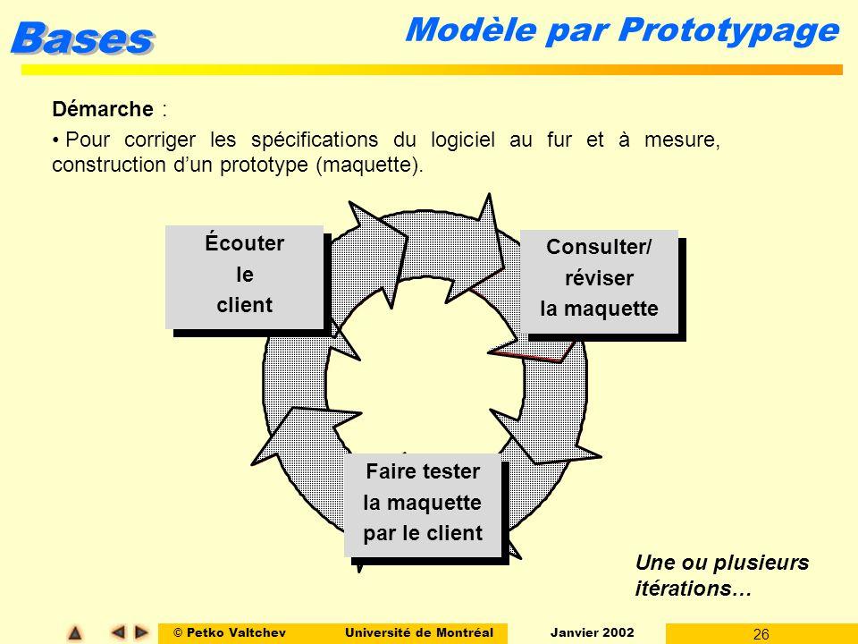 Modèle par Prototypage