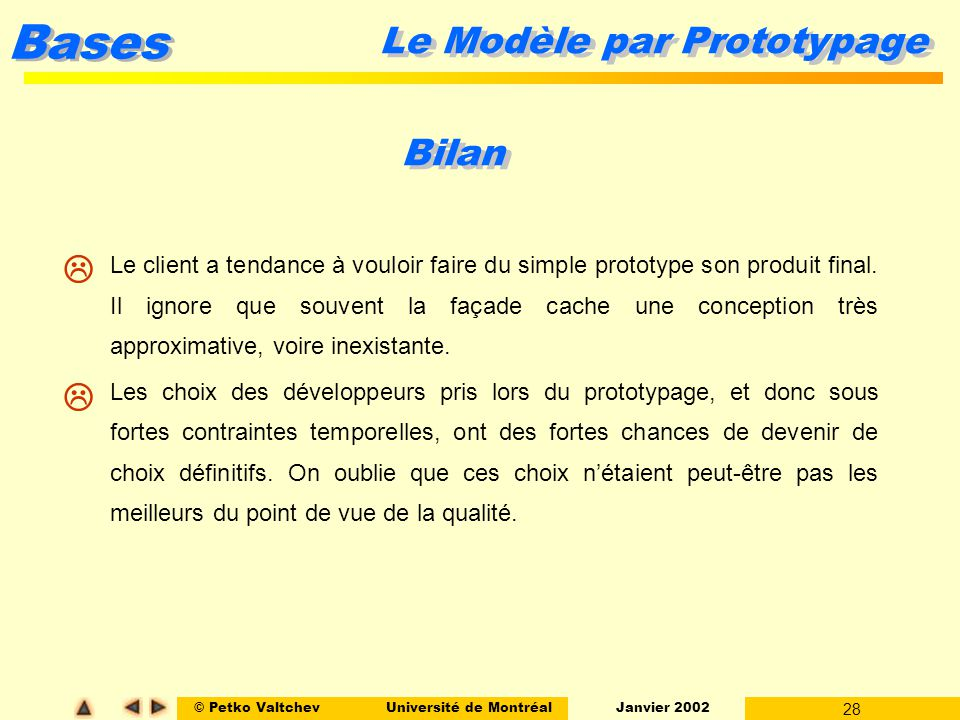 Le Modèle par Prototypage