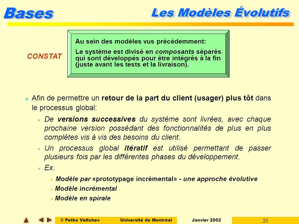 Les Modèles Évolutifs CONSTAT