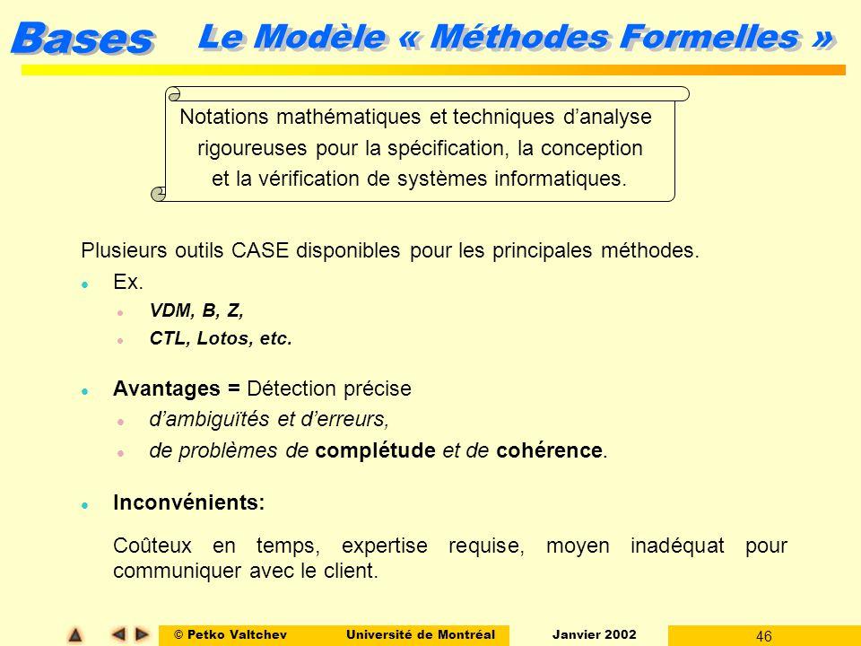 Le Modèle « Méthodes Formelles »