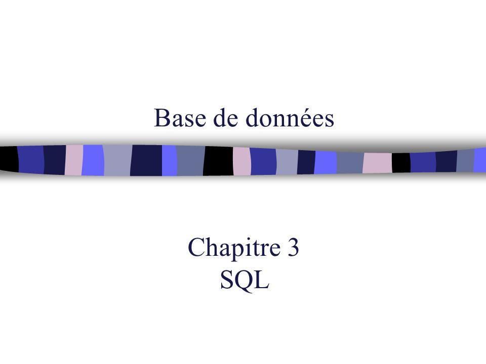 Base de données Chapitre 3 SQL