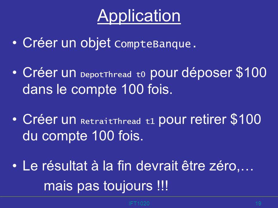 Application Créer un objet CompteBanque.