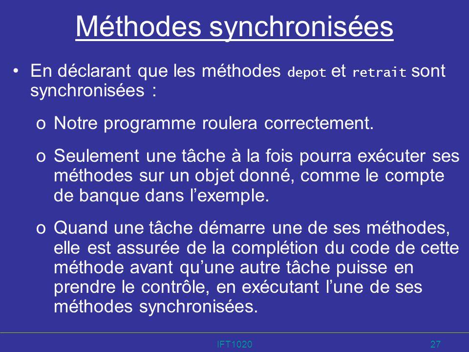 Méthodes synchronisées