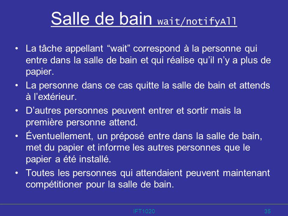 Salle de bain wait/notifyAll