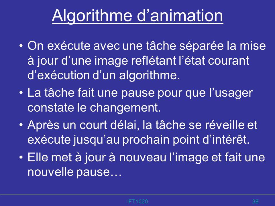 Algorithme d'animation