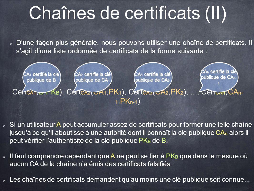 Chaînes de certificats (II)
